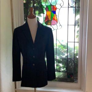 ST JOHN COLLECTION Grey Blazer Pockets 10 knit
